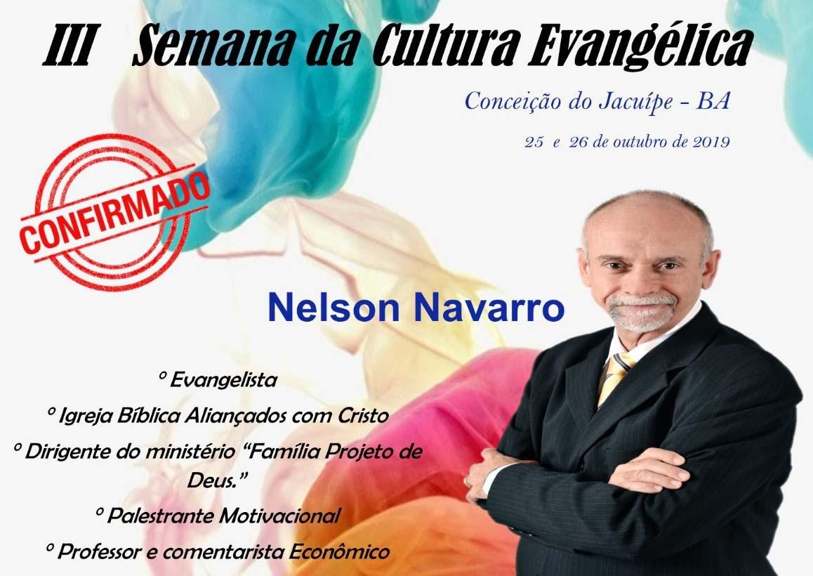 Profº Nelson Navarro Confirmado Para A 3ª Semana Da Cultura